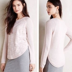 Knitted & Knotted Lace-veil Pullover